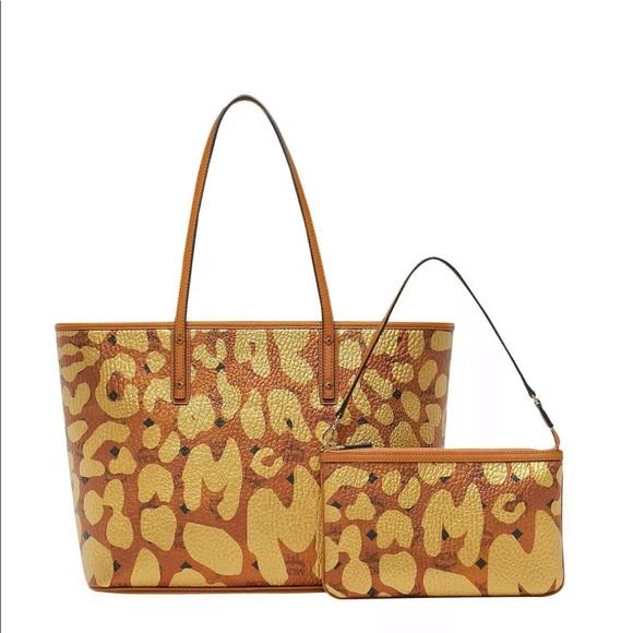 3c1a3830786f MCM Bags   New Women Leopard Anya Top Shopper Tote Bag   Poshmark